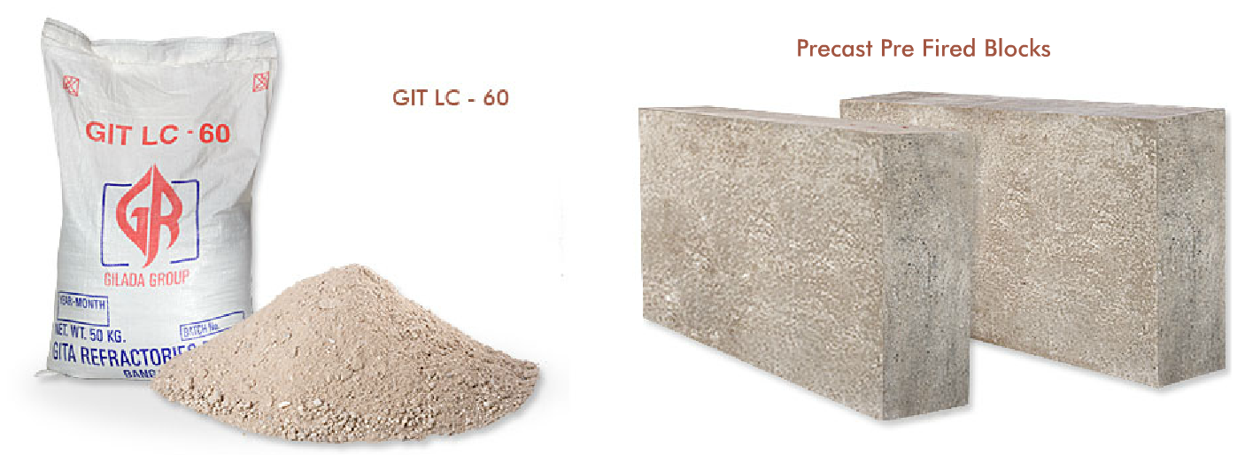 low cement castables for sponge iron